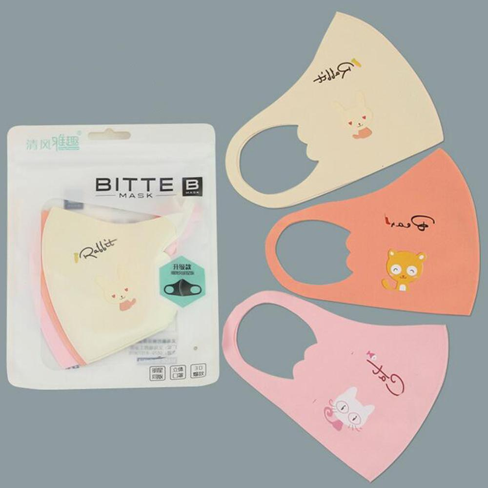 Washable Protective Face Masks Black Reusable Kids Adult Cycling Anti Dust Face Mask Cloth Cotton Respirator Fashion Mouth Masks