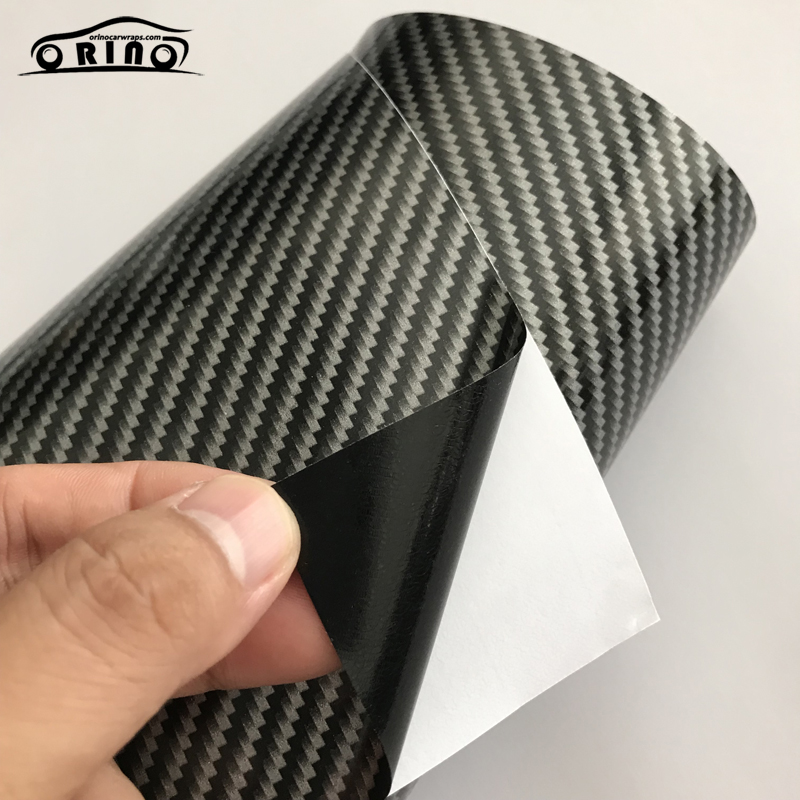 Silver 2D Carbon Fiber Vinyl Wrap Sticker-6