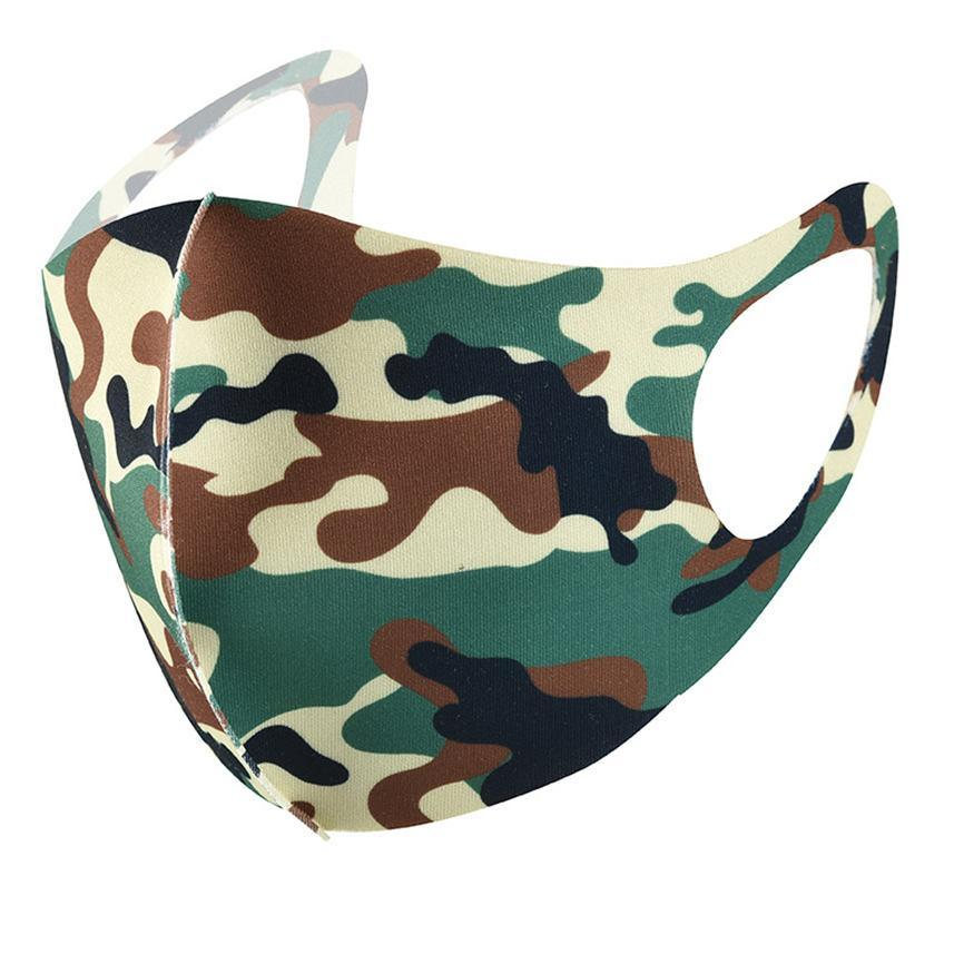 2020 face mask fashion face masks adult printed cartoon camo ice silk facemask sunscreen spring summer dustproof dust mouth mask