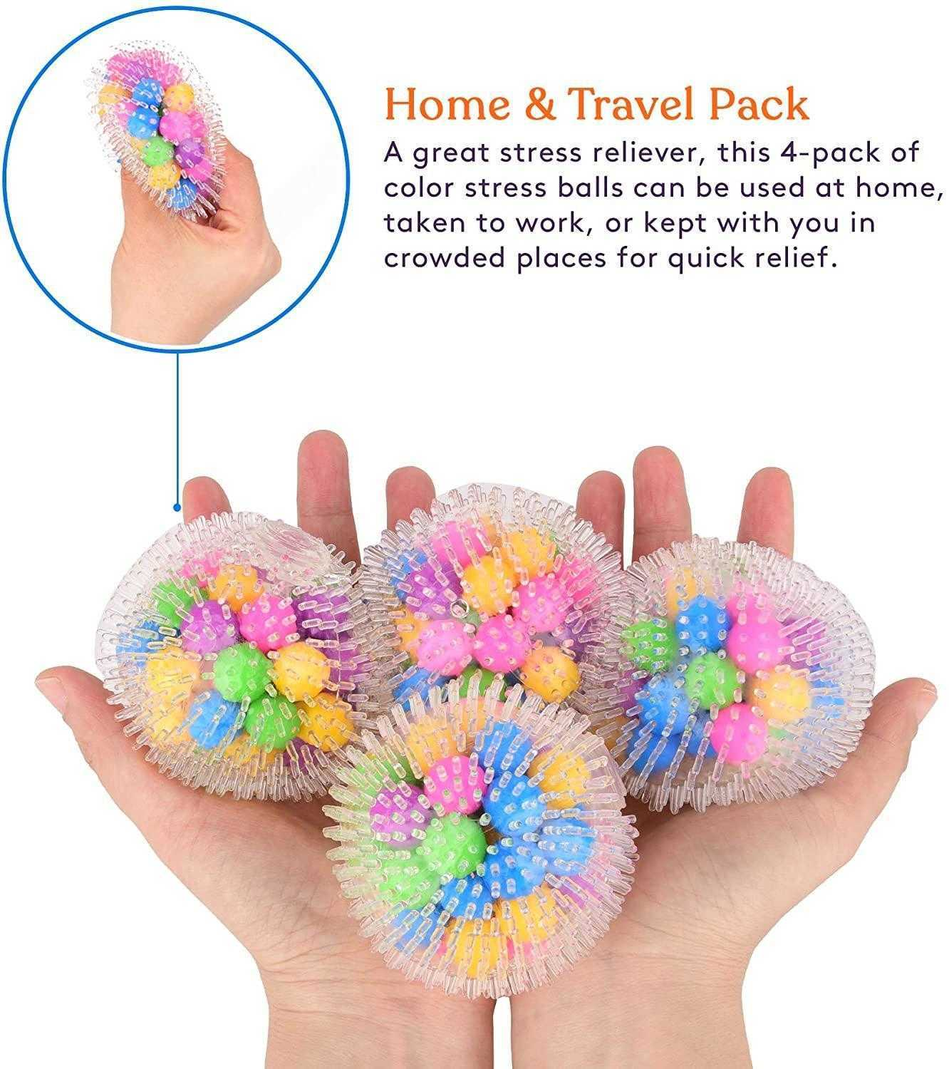 DHL hot DNA Squish Stress Ball 4-Pack Squeeze Color Sensory Toy Relieve Tension Home Travel andfree Office Use Fun for Kids Adults FY9409