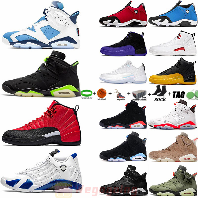 12 12s Jumpman University Blue Mens Basketball Shoes Twist Flu Game Royal 6 6s Gold Hoops UNC Black Cat British Khaki 14s 14 Men Sports Sneakers Trainers us 13