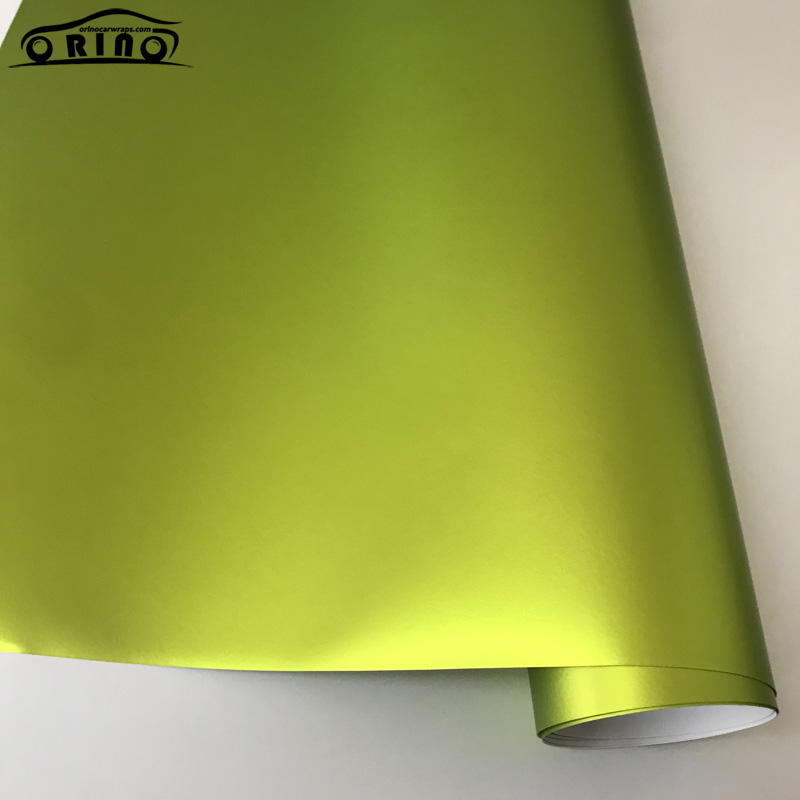 Lemon Green Metallic Matt Vinyl Film Wrap-4