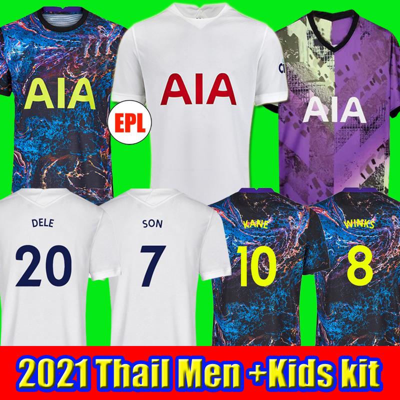 21 22 KANE SON BALE ROMERO BERGWIJN Soccer Jersey 2021 2022 LUCAS DELE Football kit shirt NDOMBELE tops kids sets socks uniform top thailand quality