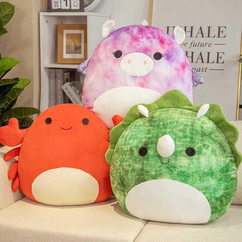 Fashion Squishmallow Movies Plush Toy For Party Favor Animal Doll Kawaii Unicorn Dinosaur Lion Soft Pillow Buddy Stuffed Gift Kids Girls CY05