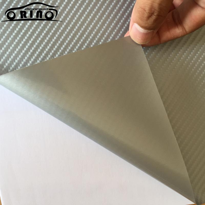 Silver 4D Carbon Fiber Vinyl Film-3