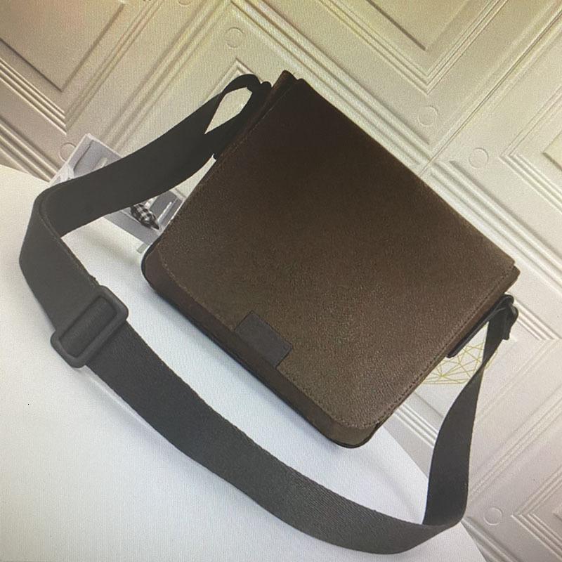 High quality district MM PM men messenger bag crossbody bags fashion classic leather man shoulder bags damier ebene graphite bag N41213