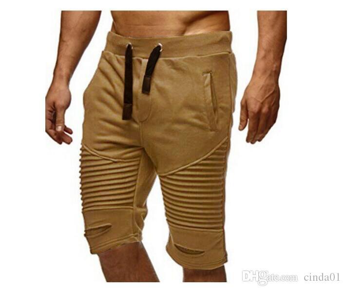 Plus Size M-3XL Mens Joggers Male Harem Pants Casual Knee Length Sports Wear Clothing Short Trousers Sweatpants
