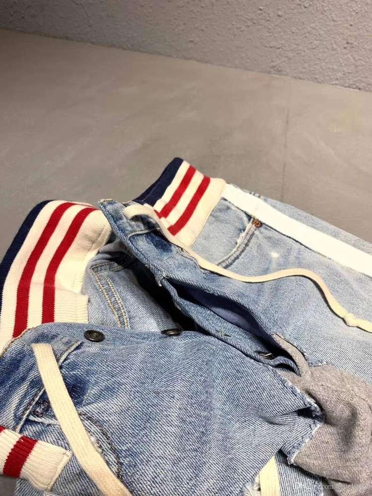 2019 new Mens designer Denim Stitchin sweatpants designer track jogging pants chinese size pants ~ tops mens yoga joggers track sweat pants