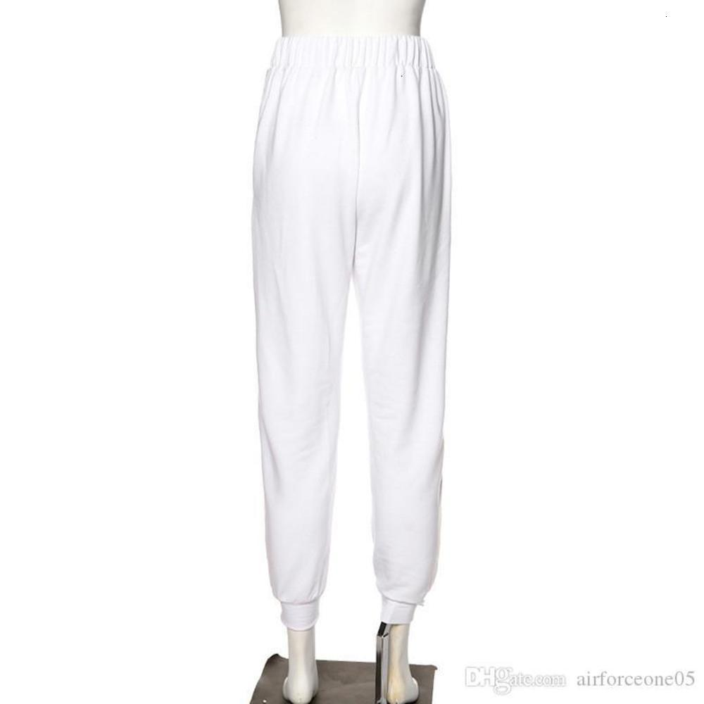 Pencil Pants Fashion Drawstring Designer Ladies Capris Casual High Waist White Female Pants Letters Printed Womens