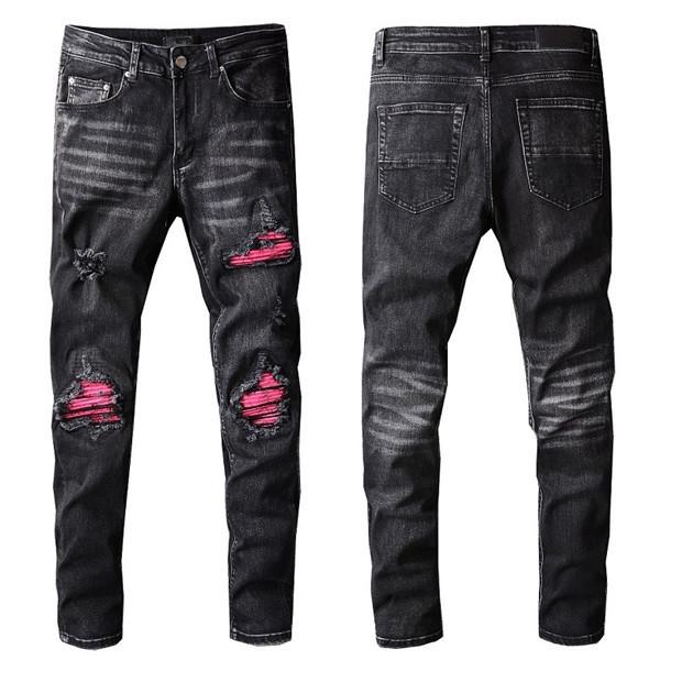 Arrivals Mens Jeans Luxurys Designer Slim-leg Jean Pattren Casual Men Pants High Quality Highs Street Biker Luxyrys Denim Pant Size W29-W40