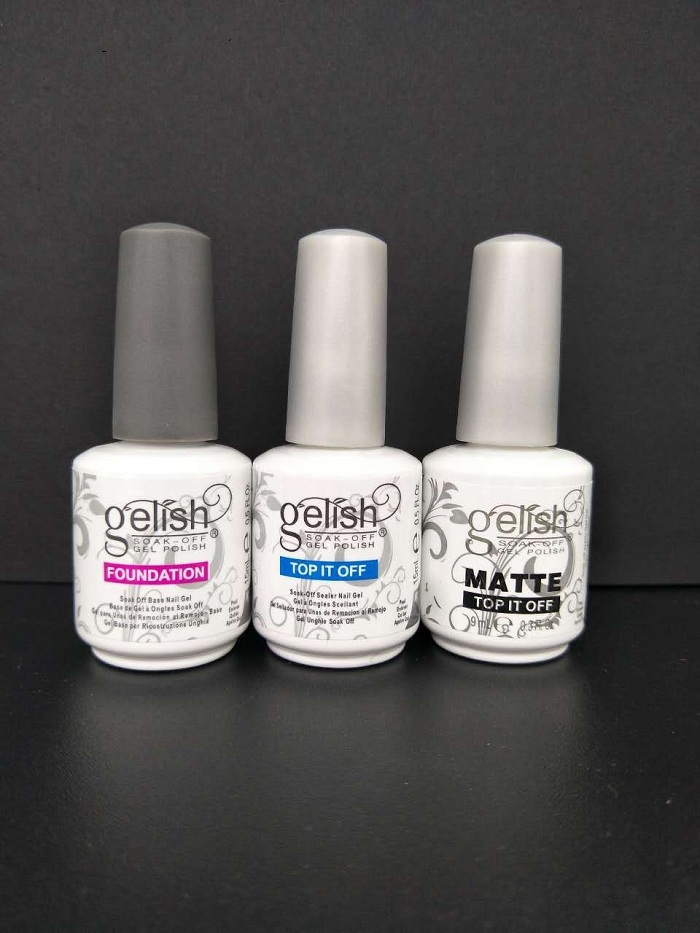 Top Quality Soak Off Nail Gel Polish For Nail Art Gel Lacquer Led/uv Harmony Base Coat foundation /top it off /matte top it off 3 styles in stock