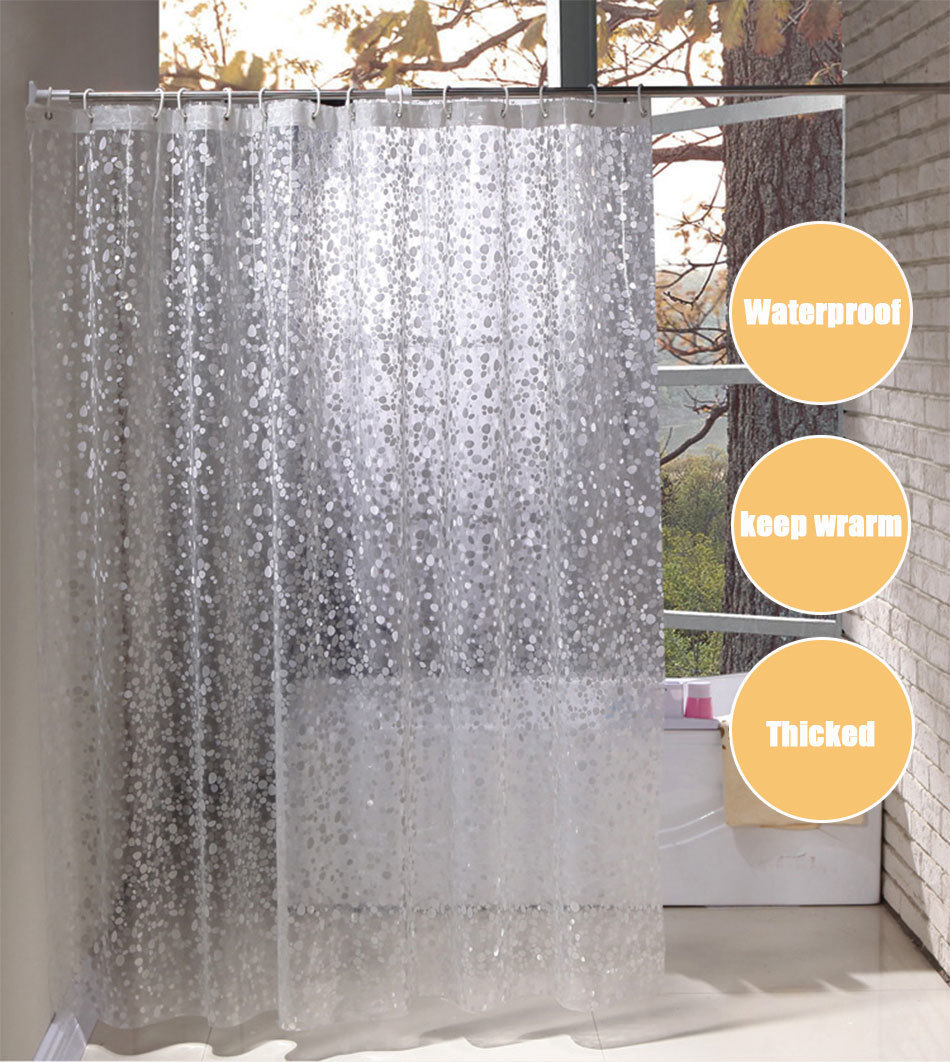 PEVA 3D translucence waterproof shower curtains