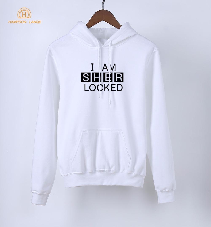 TV Show Sherlock Holmes hoodies I Am Sher locked Print Pullovers 2019 Spring Autumn Hot Sale Sweatshirt Women Long Sleeve Hooded