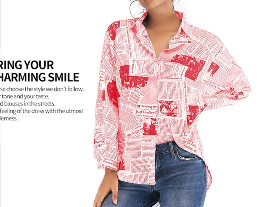 2020 New Autumn Tops Fashion New Printed Long Sleeve Shirts Sexy Personality Shirts Free Delivery
