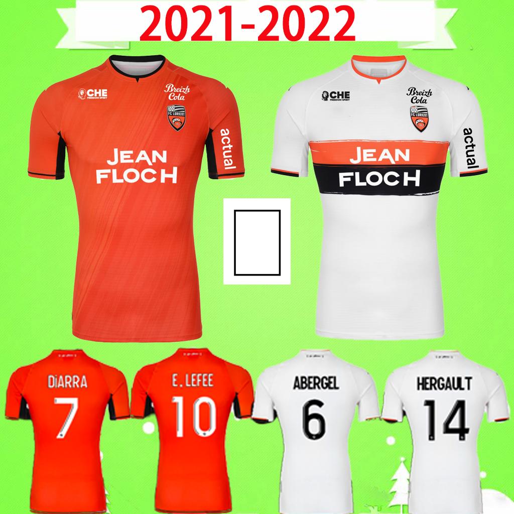 21 22 Maillot de foot FC Lorient soccer jerseys 2021 2022 home away third orange white 3rd ABERGEL DIARRA E. LE FEE BOISGARD MOFFI HERGAULT WISSA football shirts