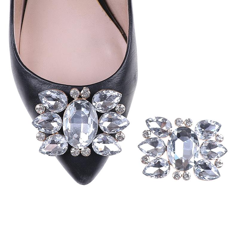 1PC Women Crystal Shoes Buckle Bridal Elegant Prom Rhinestone Shoe Clips Fashion Decorations Accessories