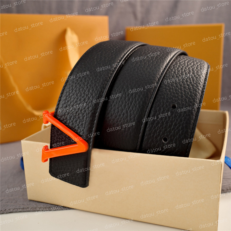 Multicolor Mens Designers Belts Fashion Luxury Designer Belt For Women 3.8cm Width Letter Buckle Genuine Leather Clemence Waistband Cintura