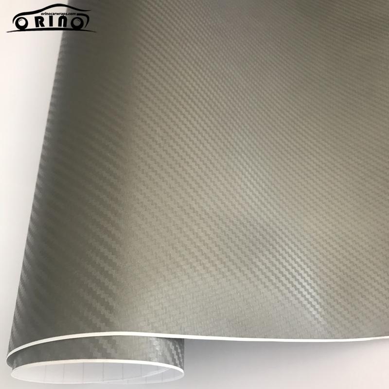 Grey 3D Carbon Fiber Vinyl Wrap Sticker-4