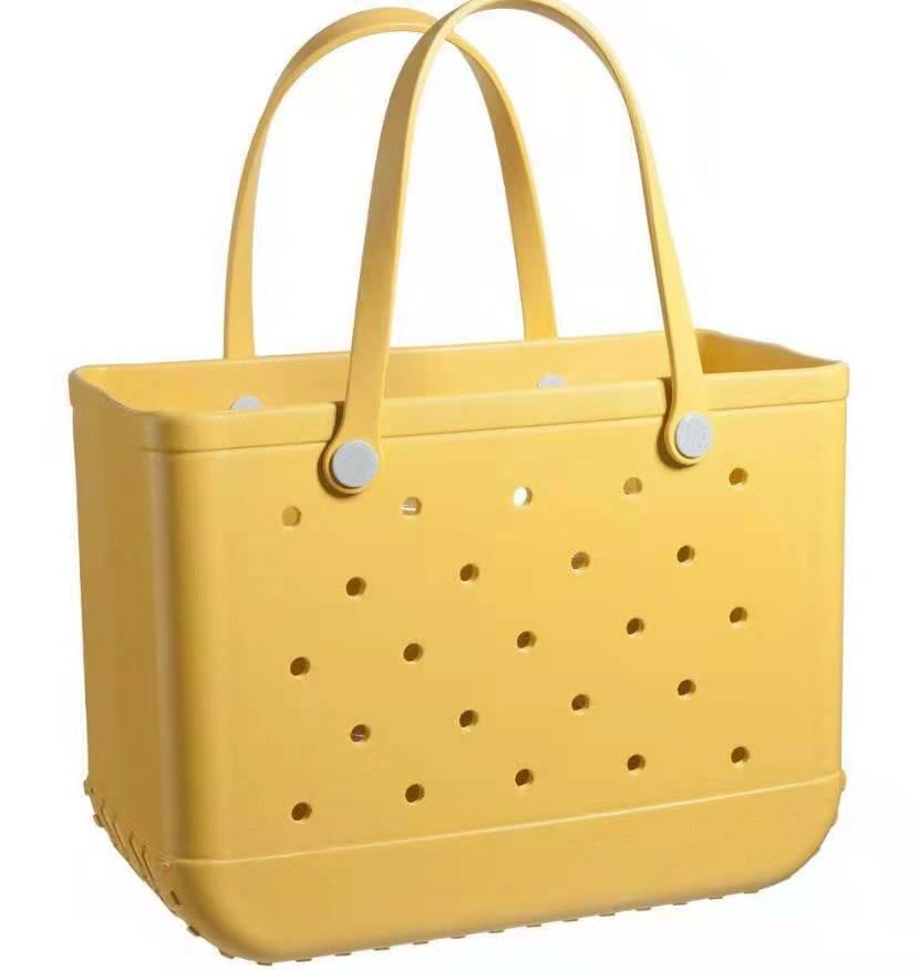Women Wholale Waterproof Tote Bags Custom Hol Summer Rubber Tot Pvc Large Eva Plastic Bogg Beach Silicone Bag