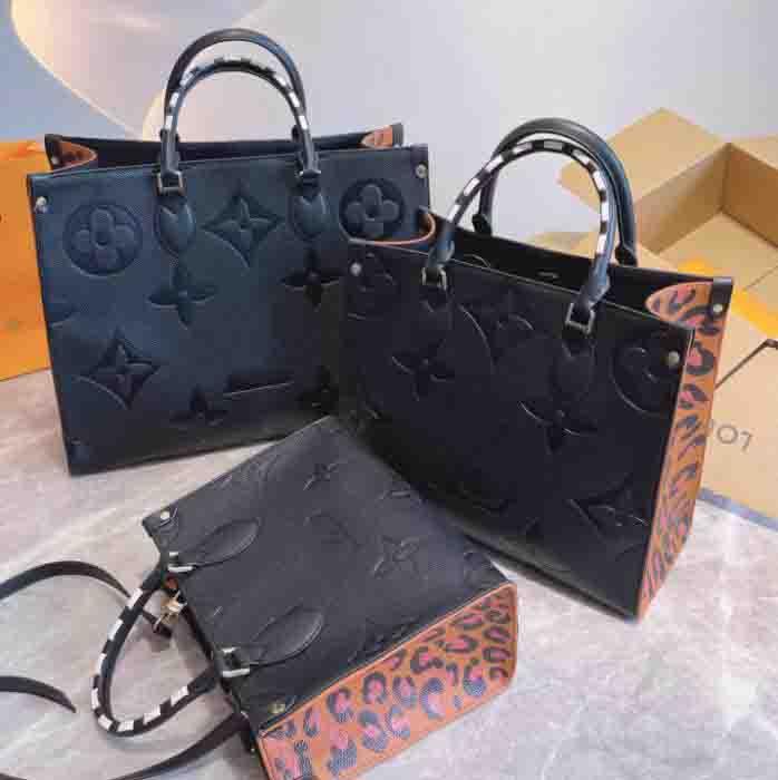 "GG""LV""Louis…Vitton YSL…VUTTON Designer Women ONTHEGO Bags braided cowhide leather Wild at Heart leopard-print luxury Handbag Purse Tote Shoulder bag"