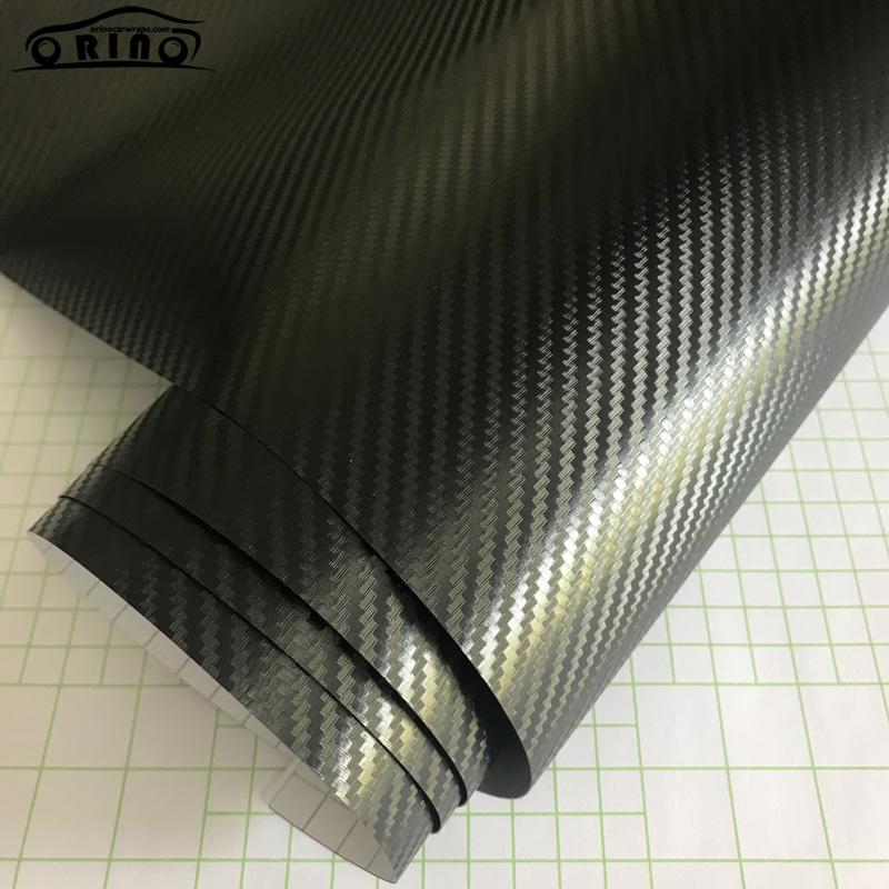 Black 3D Carbon Fiber Vinyl Film Wrap-5