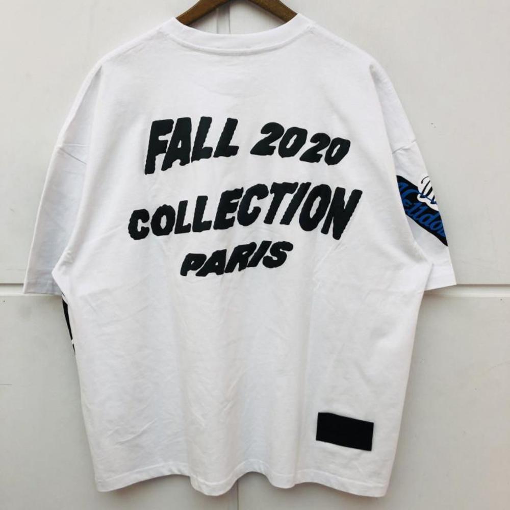 Foaming Printing T Shirts Men Women Best Quality Oversize Top Tees T-shirt