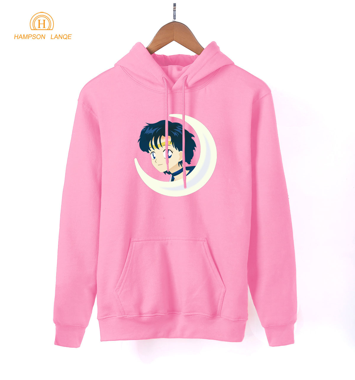 Japan Anime Kawaii Sailor Moon Pink Hoodies For Girls 2019 Hot Spring Autumn Cute Sweatshirts For Lady Women