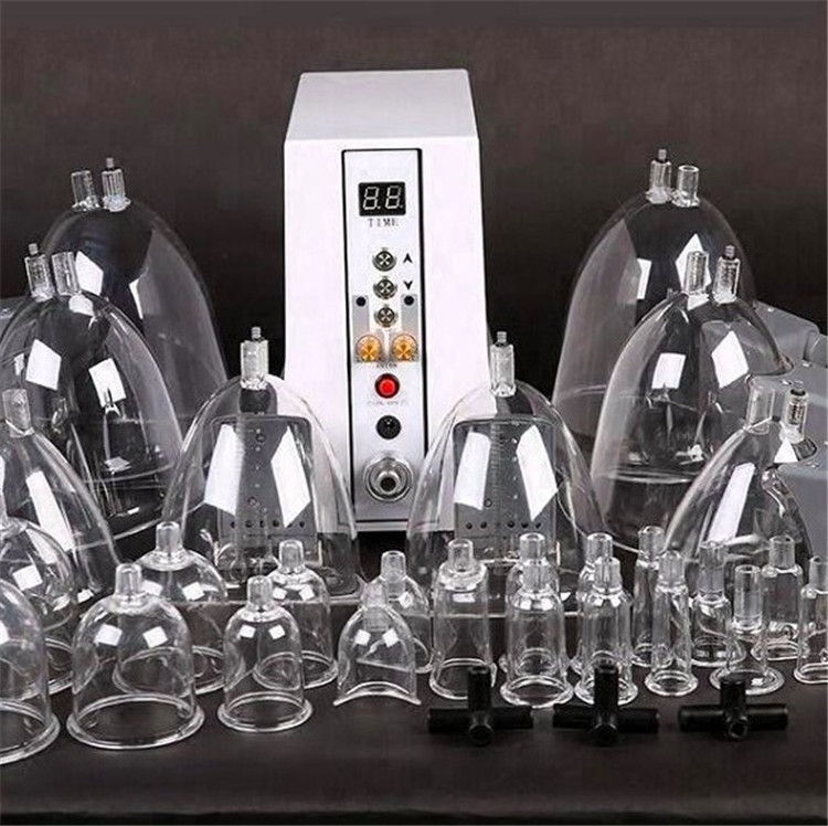High Quality Vacuum Suction Cup Breast Pump Enlargement and Buttocks Lifting Machine with 29 Cups for Women