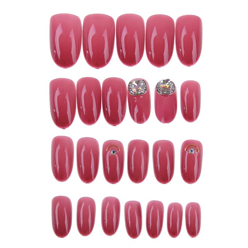 24pcs/set Design Fake Nail Tips 3d Acrylic Nails Full French Nail Art Tips With Free Nail Adhesive Glue Tape 2Styles