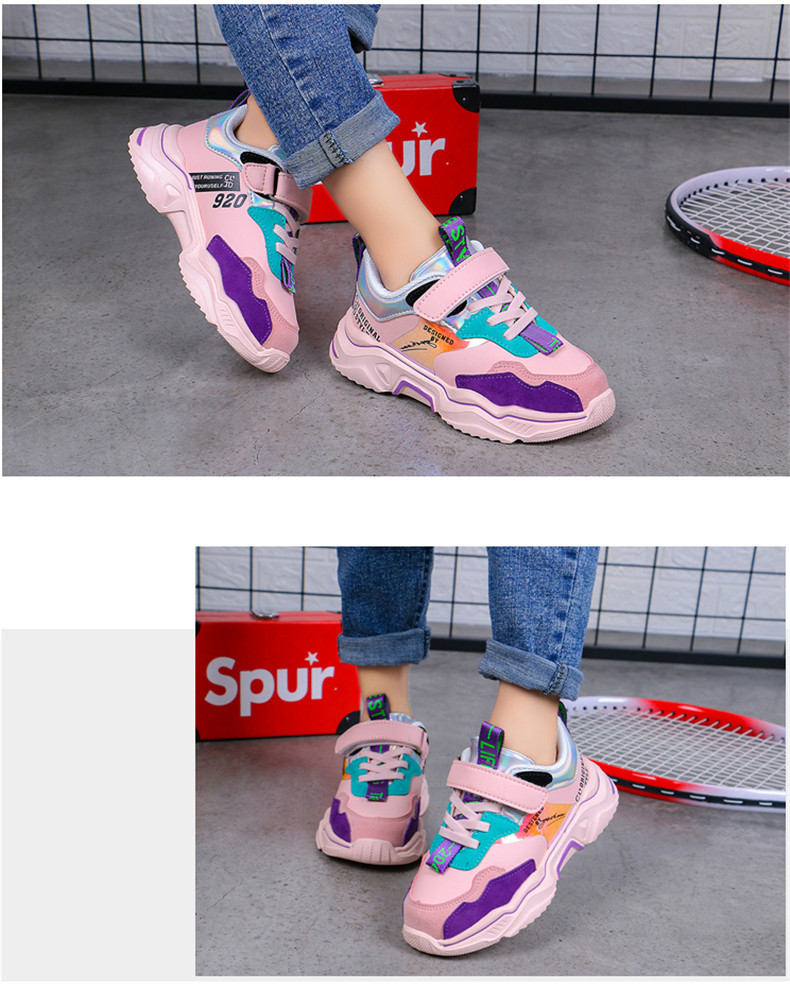 PINSEN 2020 Spring New Shoes Girls Sneaker Kids Shoes Fashion Breathable Casual Sports Running Shoes For Girl Brand Children Shoes (8)