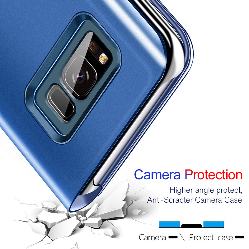 For-Huawei-P20-Pro-P9-P10-Plus-Slim-Clear-View-3D-Smart-Mirror-Leather-Flip-Stand (3)