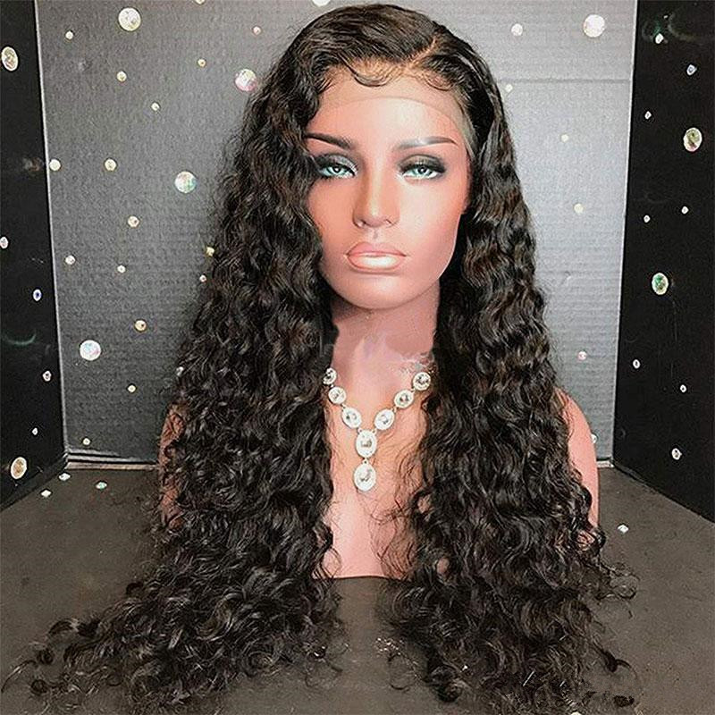 Deep Wave Full Lace Wigs Human Hair With Baby Hair Pre Plucked Glueless Brazilian Remy Human Hair Lace Wig For Women