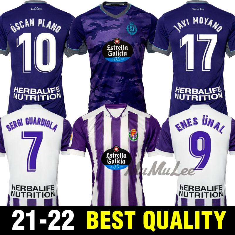 21 22 Real Valladolid soccer jerseys Weissman FEDE S. Sergi Guardiola Óscar Plano L. Olaza R.Alcaraz Marcos Andre camisetas de fútbol 2021 2022 men kids kit FOOTBALL SHIRTS