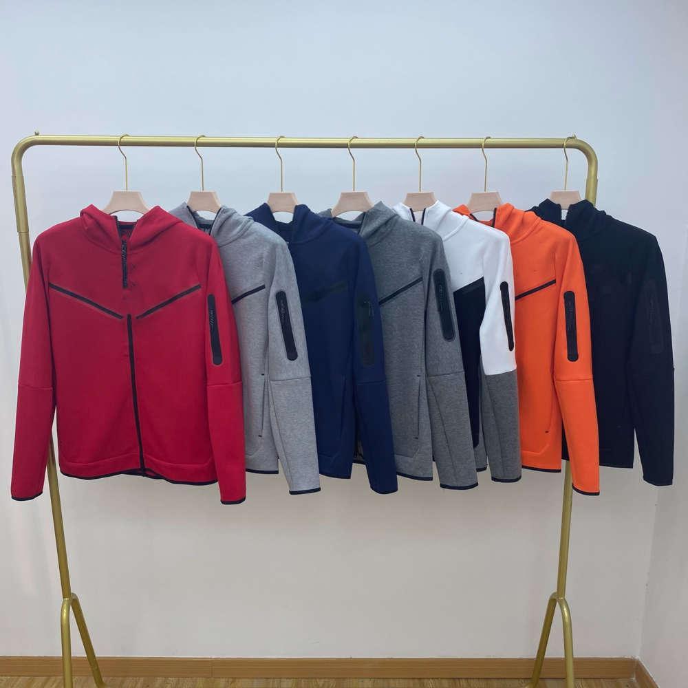 European American style men's sports hooded jacket TECH FLEECE casual hooded knitted jacket men's full-length zipper cardigan hoodie CU44900