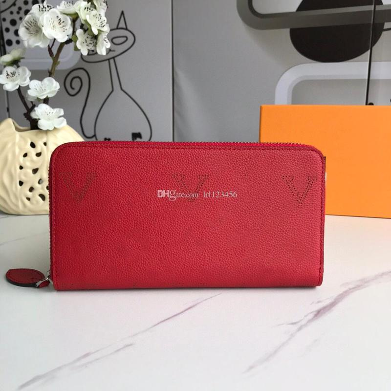 Designer Wallets Purses Double V Wallet Women Long Wallets Fold Card Holder Passport Holder Folded Purse Photo Pouch with dust bag and box