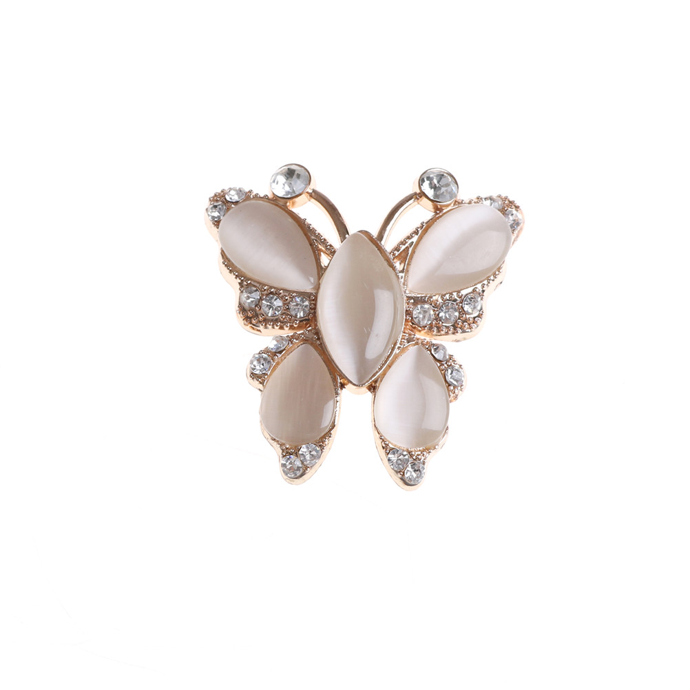 1PCS Butterfly Shape Rhinestone Clip Shoes Heels Decorations For Women Retro Crystal Clip For Bag Dress Hat Shoes Accessories