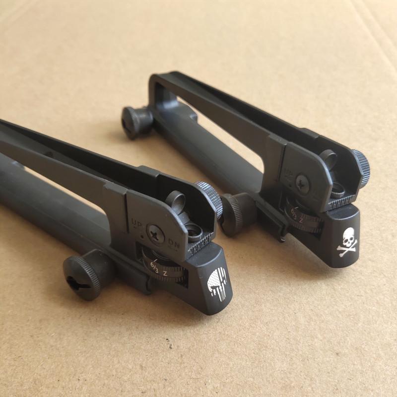 SKULL AR15 Metal Detachable M4 Carry Handle A2 Rear Sight