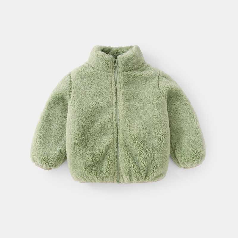 COOTELILI Fashion Fur Velvet Girls Boys Jacket Baby Girls Coat Fleece Warm Kids Jacket Snowsuit Baby Girl Hooded Outerwear (17)