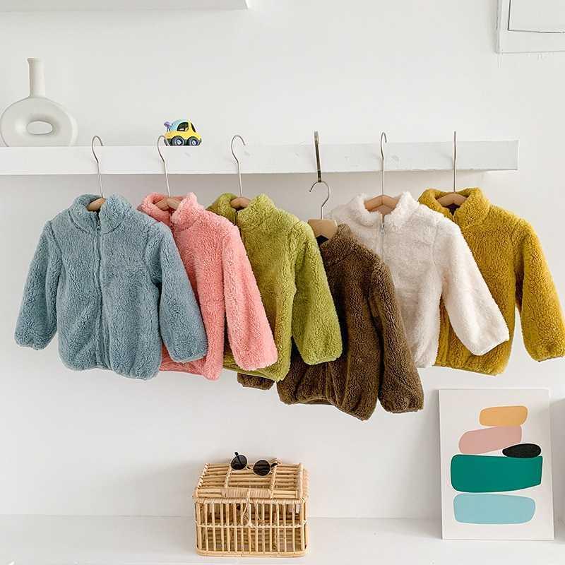 COOTELILI Fashion Fur Velvet Girls Boys Jacket Baby Girls Coat Fleece Warm Kids Jacket Snowsuit Baby Girl Hooded Outerwear (1)