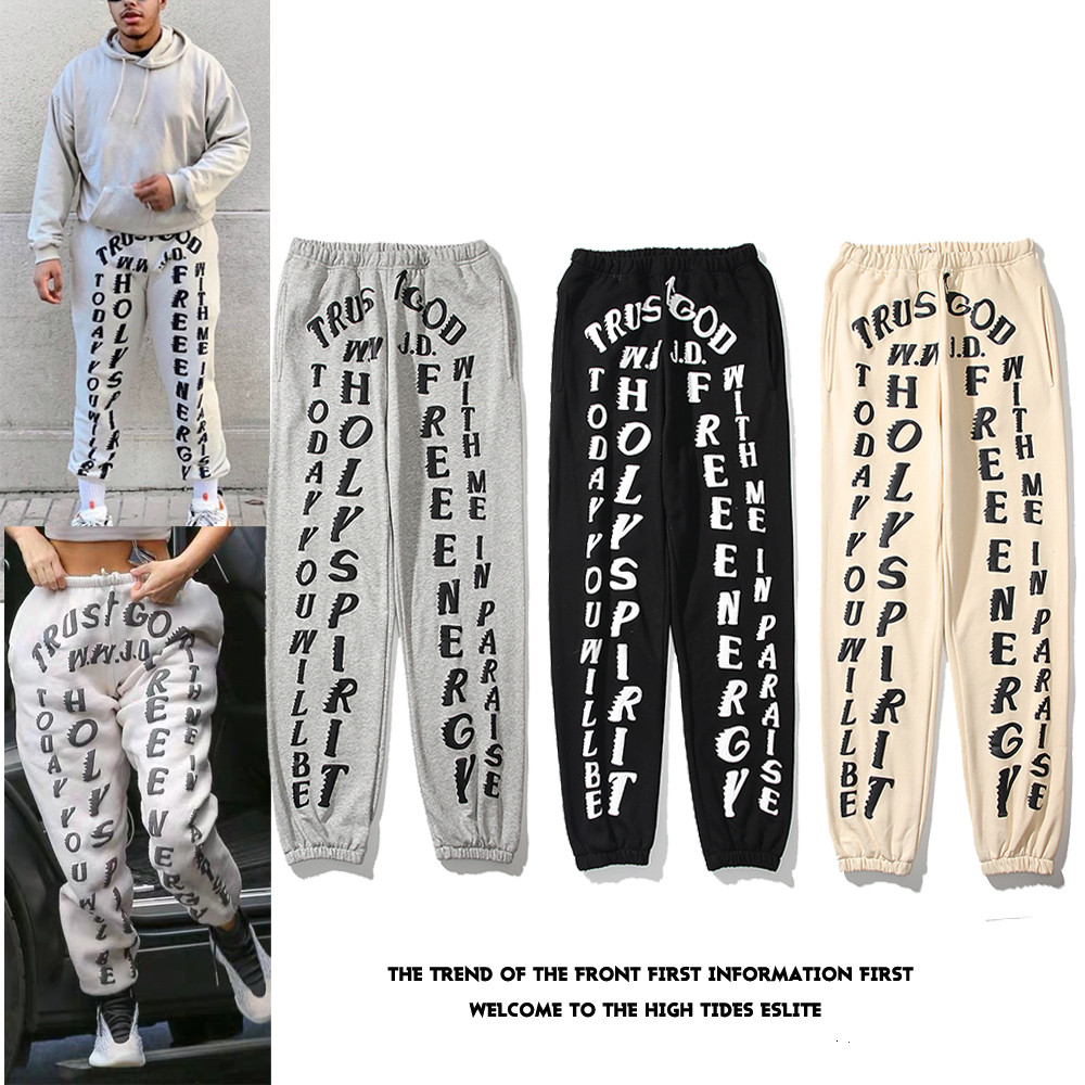 Kanye Mens Pants High Street Pants for Men Reflective Sweatpants Casual Mens Hip Hop Camo Streetwear Camo high-quality With Box