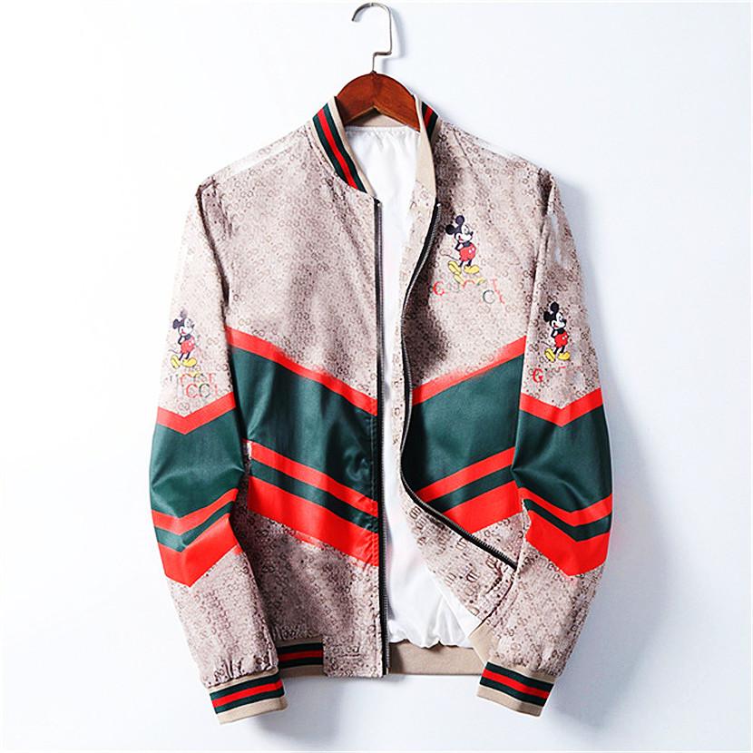 New Men's Designer Jacket 2021 Fashion Brand Jacket Men Winter Autumn Slim Men's Designer Zip Jacket Clothes Men Casual Coats Slim
