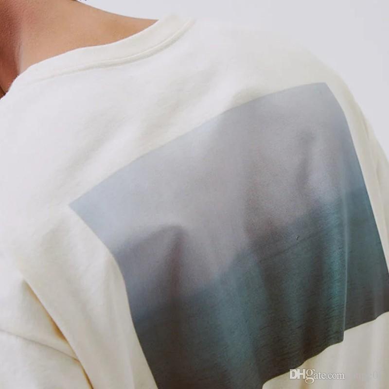 19SS Photo Tee Summer T Shirt Fashion Classic Casual Short Sleeve Street Hip Hop Men Women Summer T Shirt Size S-XL