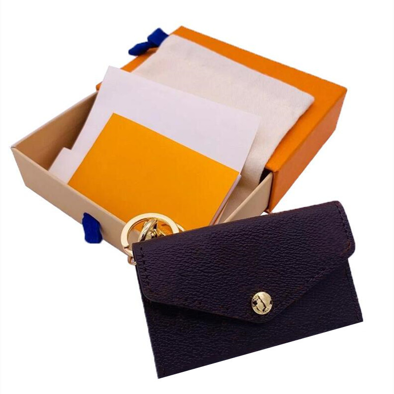Premium brand key bag premium leather high quality classic female male key holder coin purse small leather key purse with box Free delivery