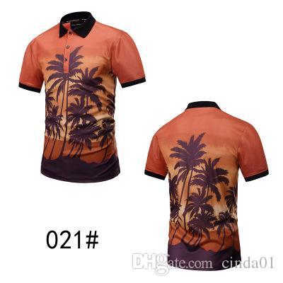 Summer Short Men Shirt Camouflage Designer 3D Printing Men Shirts Male Funny Beach Style Top Tee Fashion T-shirt