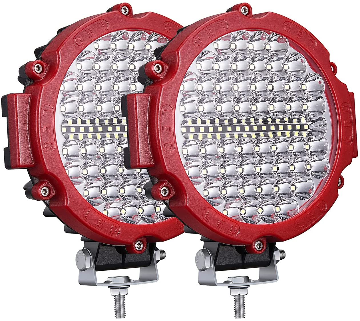 2pcs 7 inch Round LED Off Road Lights Truck 10-60V 4x4 Driving Light Pods 210W Super Bright Off-road for ATV UTV SUV Car Boat