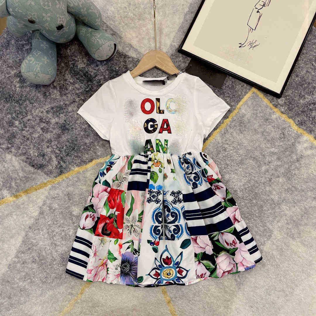 brand girl skirts summer designer girl skirt girl's cotton dress 2021 new DRESS Princess dress Fine ice silk ski spinning quality skirt size 100-150