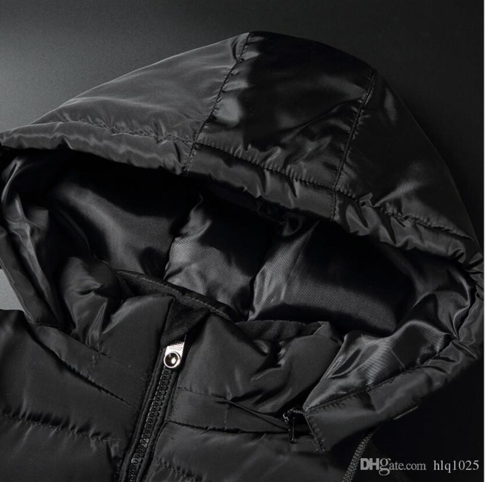 Designer Men's Vests Fashion Trend Handsome Hooded Thick Cotton Vest Winter Warm Slim Vest Jacket in