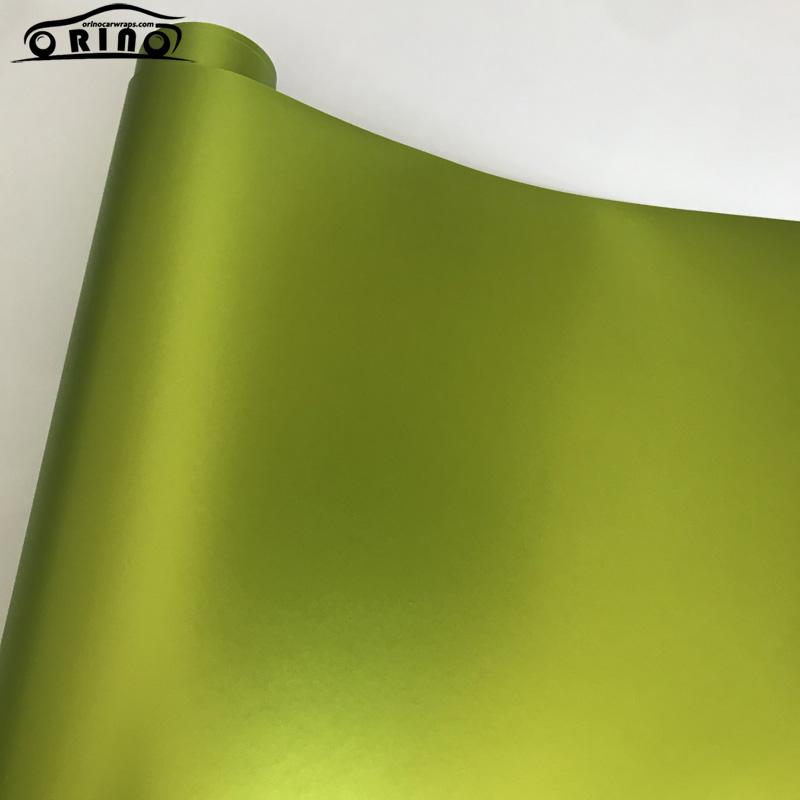 Lemon Green Metallic Matt Vinyl Film Wrap-6