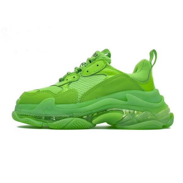 2020 New Paris Fashion 17FW Triple S Sneakers Crystal Bottom Tripler Boots For Men Women Green White Vintage Old Dad Grandpa Casual Shoes