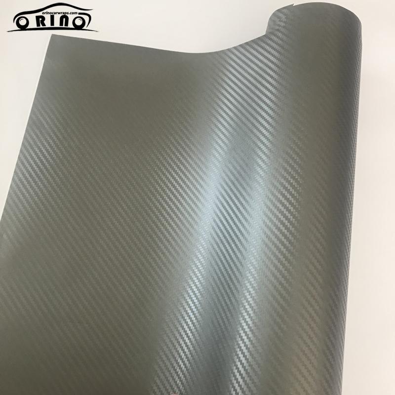 Grey 3D Carbon Fiber Vinyl Wrap Sticker-1
